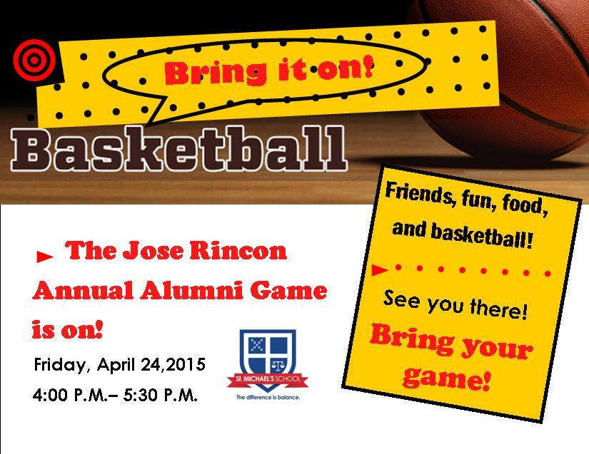 Jose Jincon Alumni Basketball Game 2015